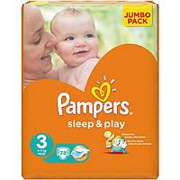 Подгузники Pampers Sleep & Play Midi Jumbo 4-9 кг 78 шт