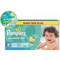 Подгузники Pampers Active Baby Maxi+ 9-16 кг 96 шт