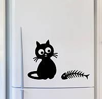 Виниловая наклейка на холодильник (Котик 8) от 15х15 см