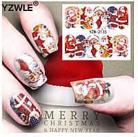Слайдер  для ногтей BN-2135 Новогодний дизайн