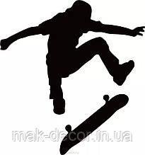 Вінілова наклейка - скейт (від 10х10 см)