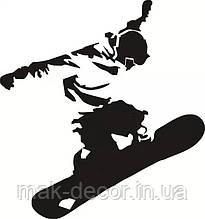Вінілова наклейка - сноубордист (від 15х15 см)