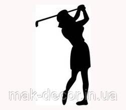 Вінілова наклейка - гольф (від 15х5 см)