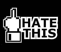 Виниловая наклейка - жест ( Fuck Hate This ) (от 5х15 см)