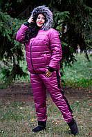 Лыжный костюм больших размеров Лакшери сиреневый