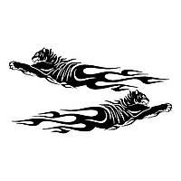 Виниловая наклейка на авто - узор тигры