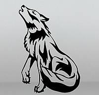 Виниловая наклейка на авто - Волк 8
