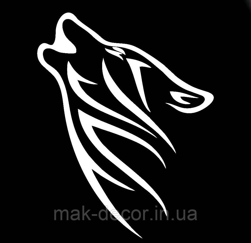 Вінілова наклейка на авто - Вовк 12