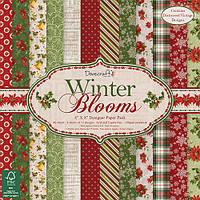 "Набор скрап бумаги ""Winter Blooms"" 12 шт. 20х20см"
