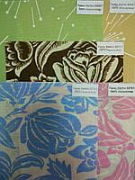 Рулонные шторы ткань ЦВЕТЫ 2  1250х1700