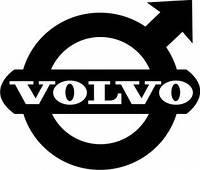 Виниловая наклейка на авто - volvo 2 ( 15х15 см)