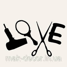 Виниловая наклейка-   Salon LOVE 59х100 см