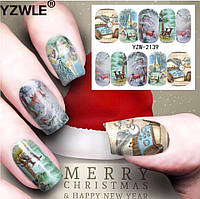 Слайдер  для ногтей BN-2139 Новогодний дизайн
