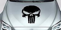 Виниловая наклейка на авто - на капот череп 008 60х50 см