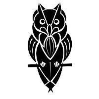 Виниловая наклейка- Сова (2)
