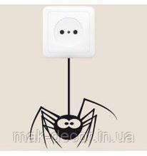 Вінілова інтер'єрна наклейка - Паучек на вимикачі (ціна за розмір 20х19 см)