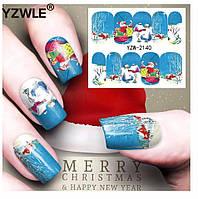 Слайдер  для ногтей BN-2140 Новогодний дизайн