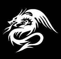 Вінілова наклейка - Дракон(2) (від 15х15 см)