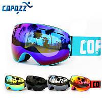 Горнолыжные / сноубордические очки (маска) COPOZZ GOG-201 pro UV400 anti-fog двойная линза