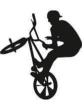 Вінілова наклейка - вело спорт (від 15х15 см)