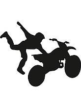 Виниловая наклейка-мото спорт (от 15х15 см)