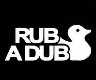 Виниловая наклейка на авто - rub a dub