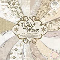 """Набор скрап бумаги """"Gilded Winter"""" 16 шт. 20х20см"""