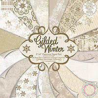 "Набор скрап бумаги ""Gilded Winter"" First Edition 16 шт. 20х20см, фото 1"