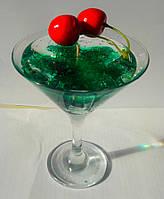 Свеча гелевая  зеленая коктельная