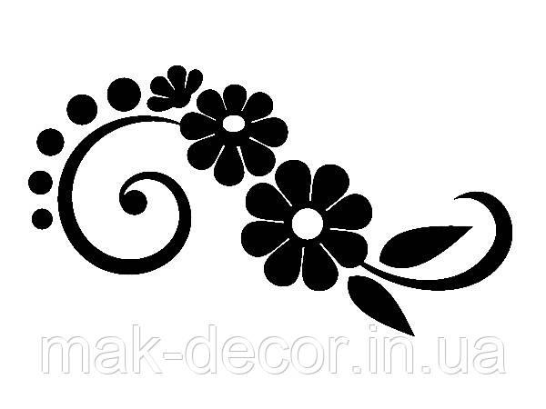 Виниловая наклейка - Узор с цветами (от 15х15 см)