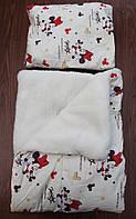 """Детское одеяло+подушка """"Минни Маус""""(на овчине)"""