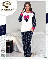Женская зимняя пижама-флисовая