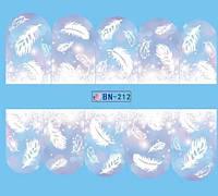 Слайдер  для ногтей BN-212 Новогодний дизайн