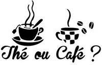 Виниловая наклейка- Чай или Кофе? 31х50 см