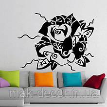 Вінілова інтер'єрна наклейка - Роза-абстракція (ціна за розмір 60х80 см)