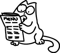 Вінілова наклейка (кіт Саймон) )від 15х15 см)