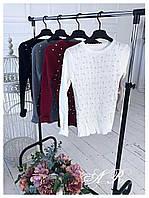 Женская стильная кофта с жемчужинами (4 цвета), фото 1