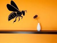 Вінілова інтер'єрна наклейка - Бджола 33х30 см