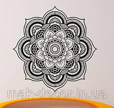 Вінілова інтер'єрна наклейка - Квітка 60х60 см