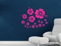 Вінілова інтер'єрна наклейка - Квіти 1 набір (від 30х30 см)