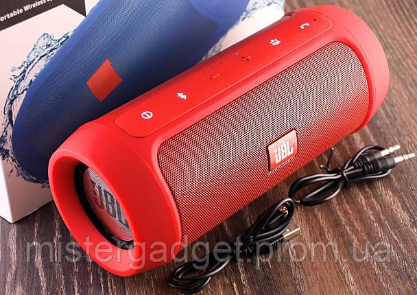 Колонка беспроводная JBL Charge 2+ 15W Красная Bluetooth Mp3 MicroSD USB 6000mAh копия, фото 2