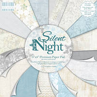 "Набор скрап бумаги ""Silent Night"" First Edition 16 шт. 20х20см, фото 1"