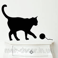 Виниловая наклейка на авто - Кошка 1 (от 15х15 см)