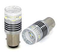 Двухцветная (белый+желтый) LED лампа 1157 - P21/5W - BAY15d - 30W  6pcs Cree  XBD Chips, Dual color lamp