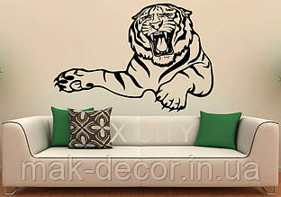 Вінілова наклейка - Тигр над диваном (ціна за розмір 60х88 см)
