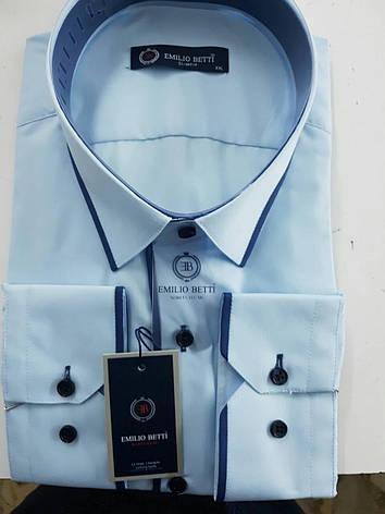 Рубашка однотонная Emilio Betti , фото 2