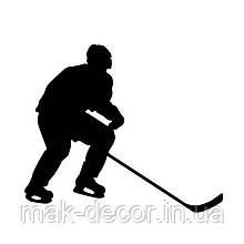 Вінілова наклейка - Хокей (1) (від 15х15 см)