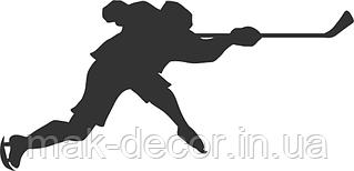 Виниловая наклейка - Хоккей (2) (от 10х15 см)