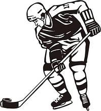 Виниловая наклейка - Хоккей (3) (от 15х15 см)
