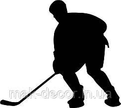 Виниловая наклейка - Хоккей(6) (от 15х10 см)